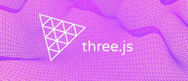 Image with Three.js logo